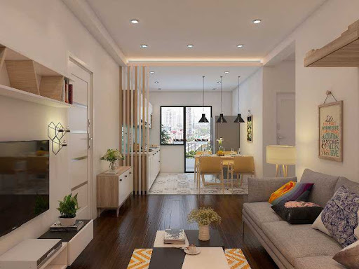 Vách ngăn tinh tế giúp căn hộ đón nhận ánh sáng tự nhiên